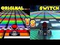 Mario Kart 8 Deluxe Retro Track Comparison switch Vs Sn