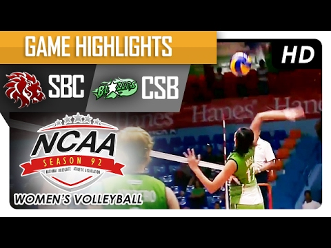 CSB vs SBC | Semi Finals Game Highlights | NCAA 92 Women's Volleyball