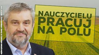 Minister rolnictwa wysłał nauczycieli do pracy na polu!
