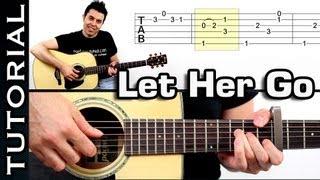 Como tocar Let Her Go - Passenger Tutorial completo guitarra español
