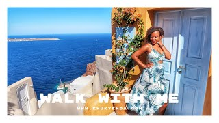 SANTORINI! | First flight after quarantine (Athens to Santorini) + walk with me | Santorini, Greece