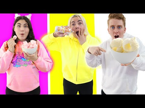 EATING ONLY 1 COLOR FOOD FOR 24 HOURS CHALLENGE!