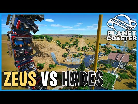 Zeus vs Hades: Dueling Boomerangs! Planet Coaster: Coaster Spotlight 754