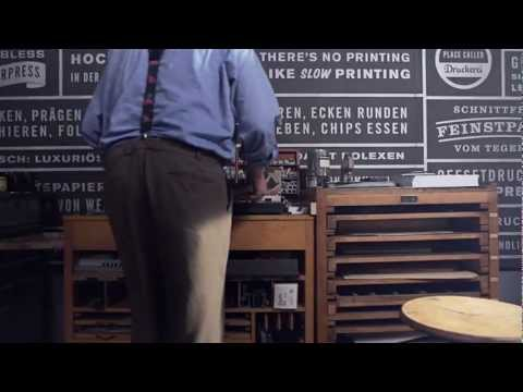 "Video ""Letterpress Tones"""