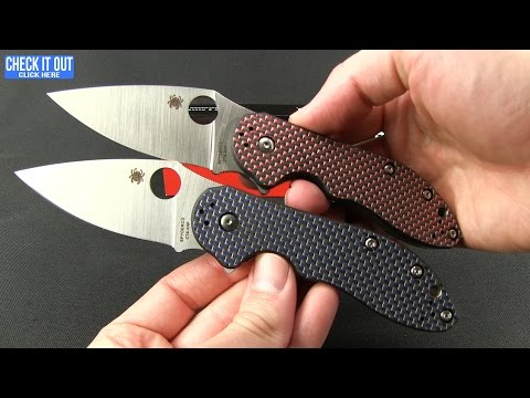 "Spyderco Domino Blue Weave Carbon Fiber Flipper Knife (3.13"" Satin) C172CFBLTIP"
