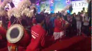 Lokhandwala Durga Puja 2013, Dhak Performance.