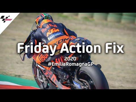 MotoGP ミサノサーキットで行われるエミリア・ロマーニャGP。金曜日に行われたMotoGPのフリー走行のハイライト動画