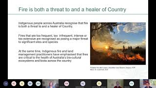 Indigenous aspirations and capacity for bushfire response - final findings meeting