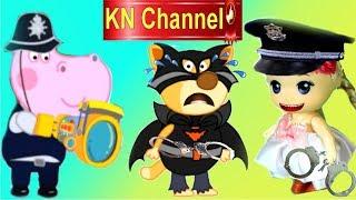 Trò chơi KN Channel BÉ TẬP LÀM CẢNH SÁT BẮT TỘI PHẠM NGUY HIỂM VỚI BÚP BÊ