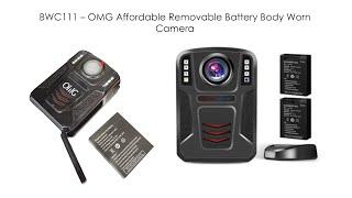 BWC111 – OMG 저렴한 이동식 배터리 본체 착용 카메라