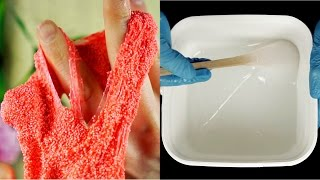 ASMR Floam vs liquid rubber (oddly satisfying)