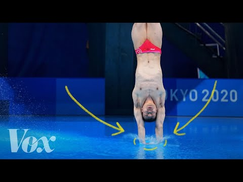 How Do Olympic Divers Make SUCH Small Splashes?