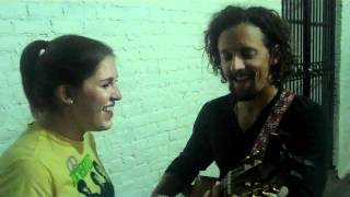"Jason Mraz & Alexa Jarred. ""Lucky."" Live in the Alley Behind Hotel Cafe."