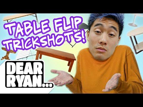 Table Flip Trickshots! (Dear Ryan) (видео)