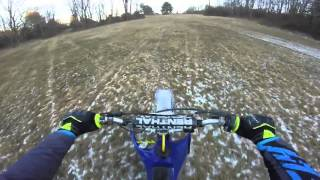 learning to wheelie on a yz85