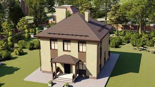 Проект дома 120-B, Площадь дома: 120 м2, Размер дома:  9,3x9,4 м