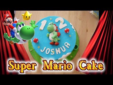 Super Mario Cake mit Buttercreme Teil 2 Fondant tauglich Kuchen Backen Torten dekorieren