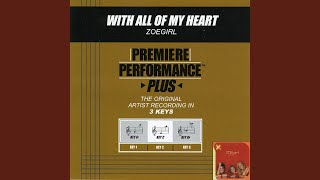 With All Of My Heart (Performance Track In Key Of C)