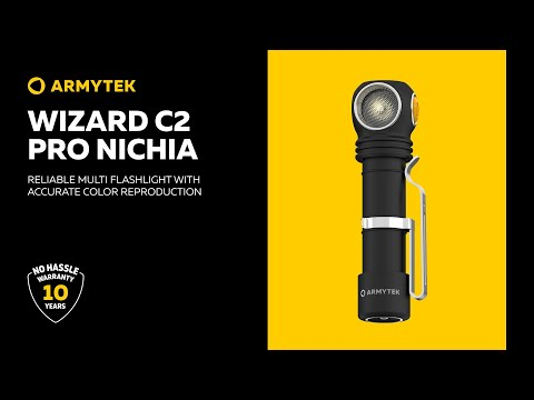 Armytek Wizard C2 Pro Nichia — flashlight with CRI 90+ for natural color reproduction