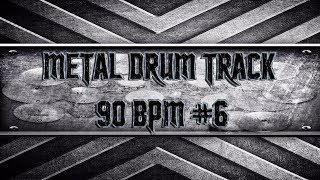 Groovy Metal Drum Track 90 BPM (HQ,HD)