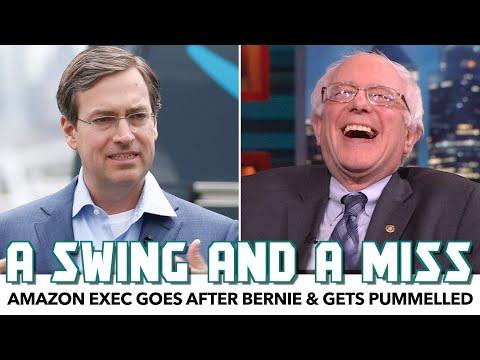 Amazon Exec Goes After Bernie & Gets Pummelled