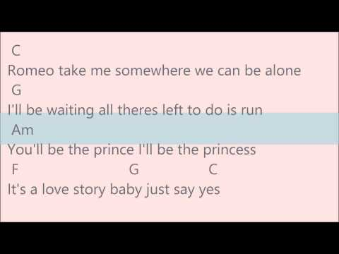 Love Story Taylor Swift W Guitar Chords