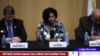 Click to play: 2014 North Carolina Supreme Court Judicial Candidate Forum - Event Video