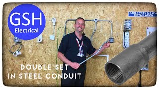 Electrical Practical Skills Bending Double Set in Steel Conduit (How to Bend 20mm Conduit Offset)