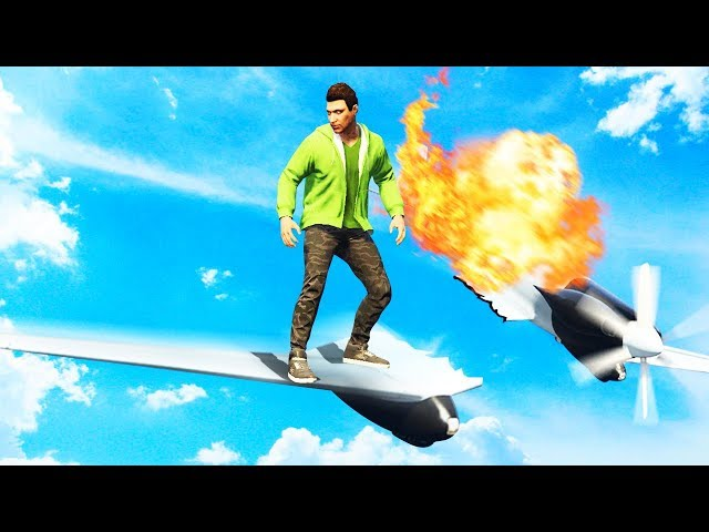 EXTREME GTA 5 WING SURFING CHALLENGE! (GTA 5 Funny Moments)