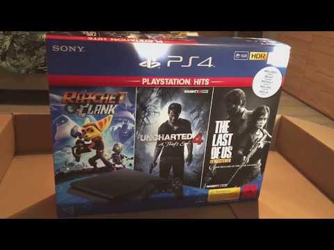 PS4 Slim 1TB Playstation Hits Bundle - unboxing - (German)