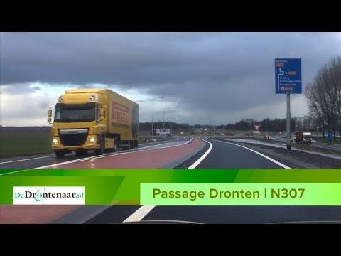 VIDEO | Het verkeer rijdt Dronten over de nieuwe Passage in 2 minuten en 15 seconden voorbij