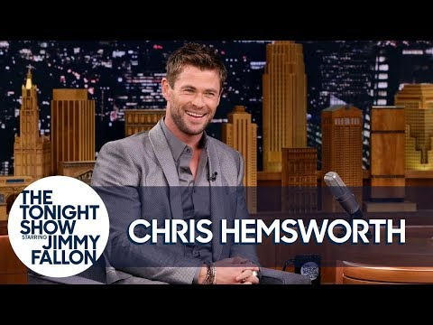 Chris Hemsworth's Toddler Son Scaled a Fridge to Reach Candy