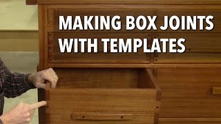 Making Box Joints With Templates