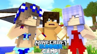 LITTLE CARLY AND BRITNEY CRUSH ON THE SAME BOY!! (Minecraft Summer Camp #2)