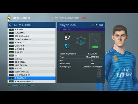PES 2019 - Netherlands Face and Player Ratings - смотреть