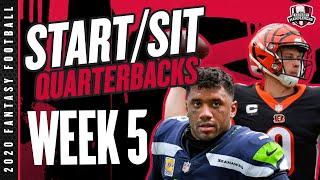 2020 Fantasy Football Advice - Week 5 Quarterbacks - Start or Sit? Every Match Up