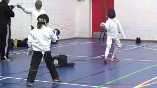 Pentathlon training - Fencing