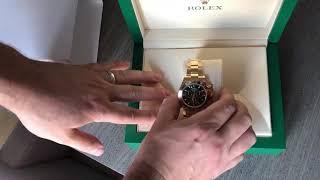 Rolex YG Daytona Green Dial 116508 Unboxing