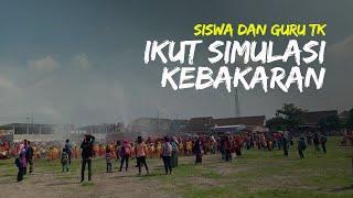 Siswa dan Guru TK di Jogonalan Klaten Ikut Simulasi Kebakaran, Bangun Kesadaran Tanggap Bencana