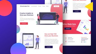 Illustration Style Website - Speed Design And Code ( HTML & CSS )