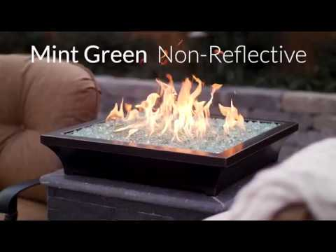 Mint Green Non-Reflective Fire Glass | Lakeview Outdoor Designs