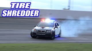 Drag Racing AND Drifting Our 1000HP Cop Car! Will Our NEW Axle Handle The Power?