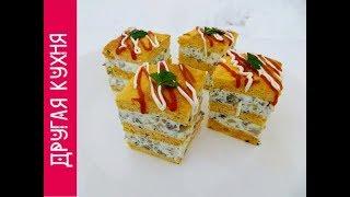 Восторг гостей обеспечен! Закусочное пирожное с грибами и брынзой