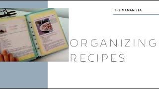 Organizing Recipe Binder