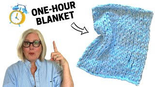 ONE-HOUR BABY BLANKET - You can KNIT this!