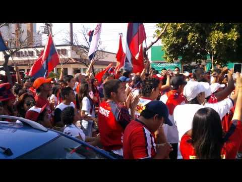 """""""Caravana de porra tiburones rojos de veracruz 04"""" Barra: Guardia Roja • Club: Tiburones Rojos de Veracruz"""