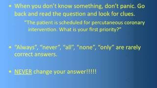 Test Taking Tips for Nursing Students