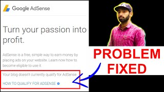How To Fix Your Blog Doesn't Currently Qualify For AdSense in Hindi |  Blogger AdSense Qualify 100%