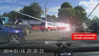 Момент ДТП на Шевченко 06.07.2018