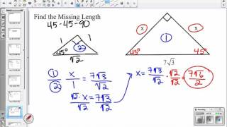 Special Right Triangles (9.2) Geometry